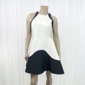 HALSTON HERITAGE Colorblock Tulip Dress 10